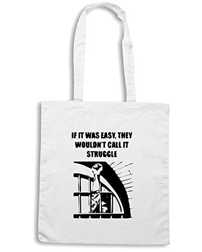 T-Shirtshock - Bolsa para la compra TCO0071 if-it-was-easy Blanco