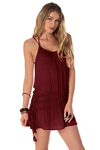Becca by Rebecca Virtue Women's Wanderer Tank Dress Swim Cover Up Henna S