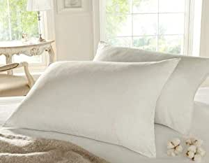 Comfy White Cotton Pillow 144 Thread Count,White