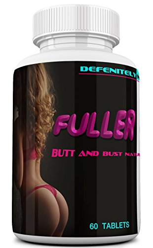 FULLER CURVES Female Butt and Bust Enlargement Pills. Naturally Increase Your Butt and Breast Size and Shape. Extreme Booty and Breast Enhancement. 60 Tablets