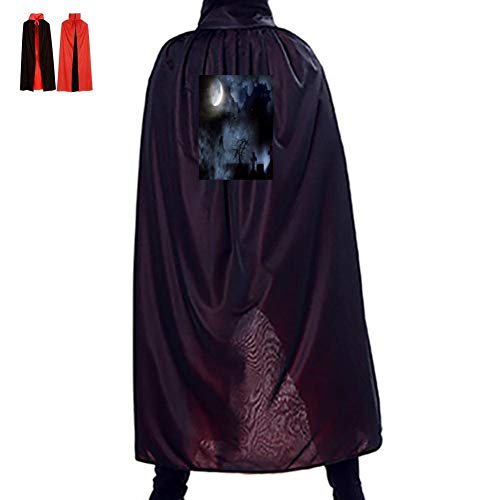 Cross in The Moonlight Double Hooded Robes Cloak Knight Cosplay Costume 35.5(in) ()