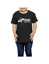 DP Dude Perfect Logo Kids Shirts Black (2-6 Toddler)