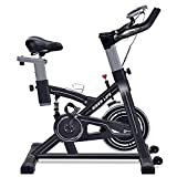 IDEER LIFE Exercise Bike Indoor Cycling Stationary Bike,Home Gym Exercise Bike Adjustable Belt Drive Exercise Cycle Bike for Indoor Cardio,w/Pulse Sensor&LCD Monitor,Max Capacity:330lb