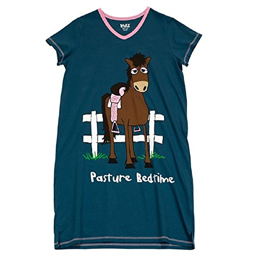 Women's Blue Nightshirt Pasture Bedtime