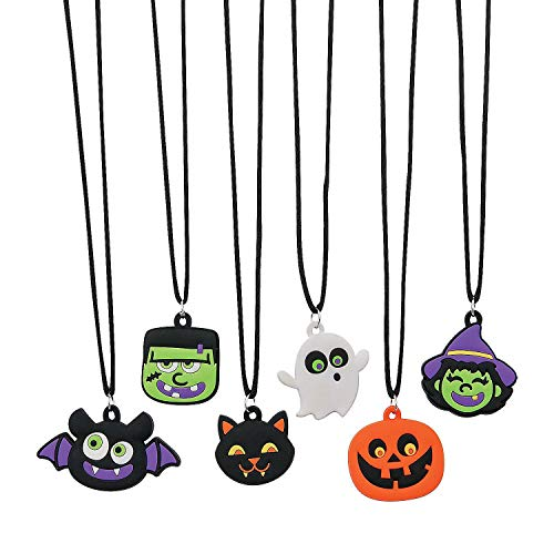 Fun Express Halloween Rubber Character Necklaces - 48 Pieces]()