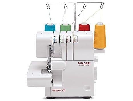 SINGER PRO FINISH - Máquina de coser (Máquina de coser automática, Blanco, Overlock