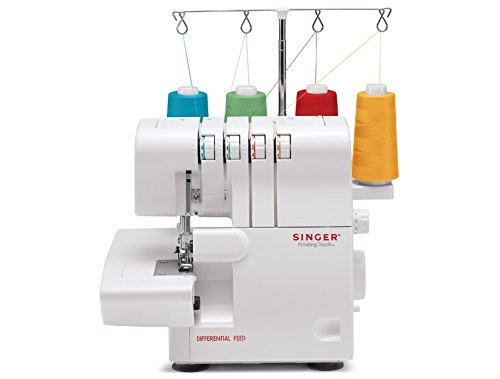 Singer | ProFinish 14CG754 Serger 2-3-4 Thread Capability Overlock with Blind Hem, Rolled Hems and Flatlocking, Take Your Creations to the Next Level!