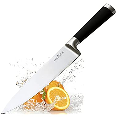 Equinox Professional Chef's Knife - 8 inch Full Tang Blade - 100% German Steel with Protective Bolster - Great for Home Gift and in the Kitchen for Cooking, Slicing, Dicing and Chopping