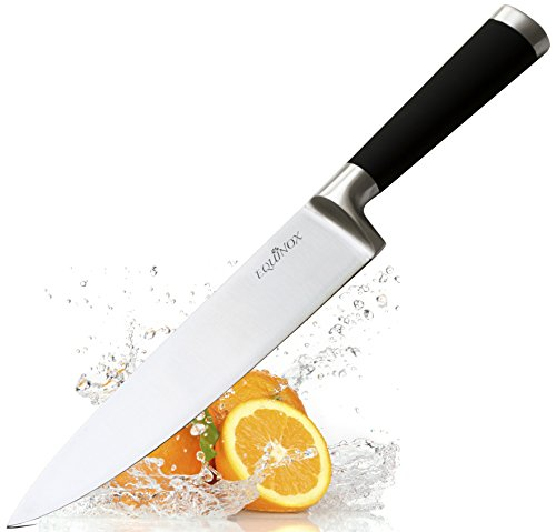 Equinox Professional Chef's Knife - 8 inch Full Tang Blade - 100% German Steel with Protective Bolster