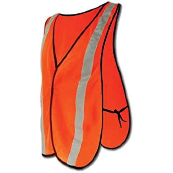 Magid CRV2430 Polyester Non ANSI Compliant High Visibility Reflective Safety Vest, One Size Fits All, Orange