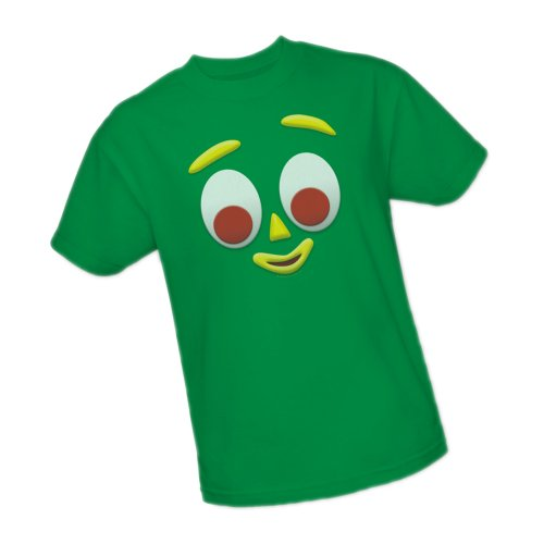 Gumby Big Face -- The Gumby Show Adult T-Shirt, (Gumby And Pokey Tshirt)