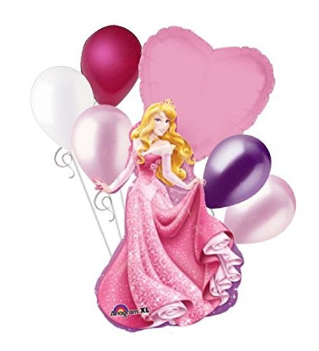 Birthday Beauty Bouquet - Disney Princess Sleeping Beauty Aurora Balloon Bouquet