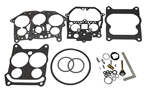 (Compatible With Mercury MerCruiser Marine) Rochester Quadrajet Carb Carburetor Kit (Fits MANY 4, 6 & 8 Cylinder Inboards, See Ad's Description For Exact Fit & Part numbers It ()
