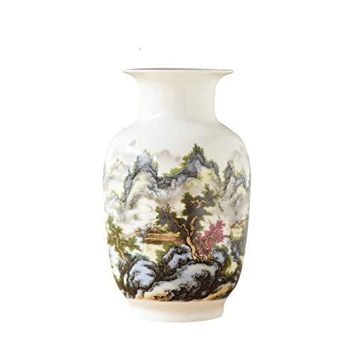 Chinese Style Gourd Vase Classical Porcelain Kaolin Flower Vase Home Decor Handmade Shining Famille Rose Vases,19