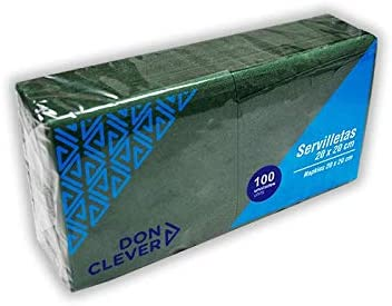 DON CLEVER SERVILLETA 20X20 Verde/Caja ECONOMICA 32 Paquetes / 2 ...