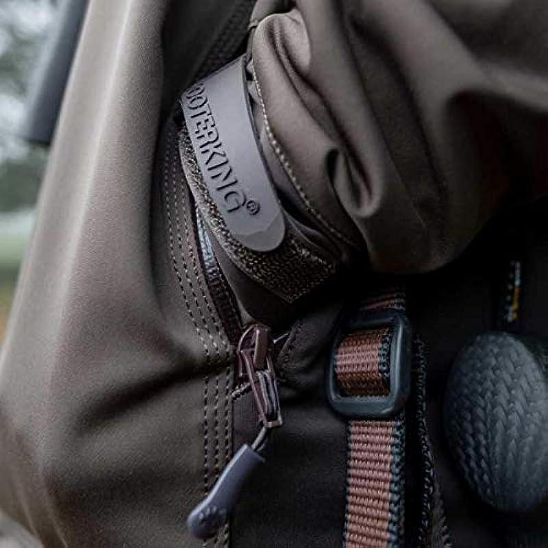 Shooterking Huntflex męska kurtka lekka wodoodporna oddychająca wiatrÓwka oliwkowa/brązowa: Odzież