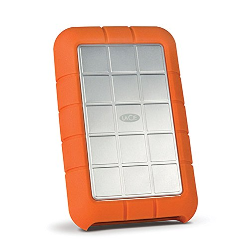 LaCie Rugged Triple 1TB External Hard Drive Portable HDD - USB 3.0 FireWire 800 compatible for Mac and PC Computer Desktop Workstation Laptop (STEU1000400)