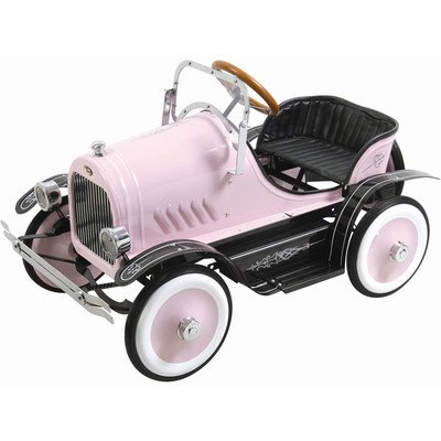 Pink Roadster Pedal Car - Kalee Deluxe Roadster Pedal Riding Toy - Pink