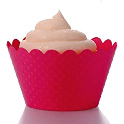 Dress My Cupcake Standard Magenta Cupcake Wrappers, Set of 12