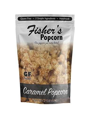 Fisher's Popcorn Caramel Pouch, 2 oz., 12 (Party City Fishers)