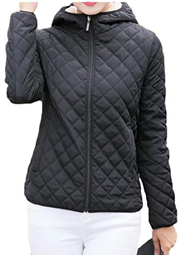 Parkas Jacket Women's Down Hooded Coats Black Thickened Short EKU Outwear RqwxXaw