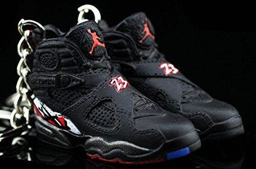 - Air Jordan VIII 8 Retro Playoff Black OG Sneakers Shoes 3D Keychain Figure