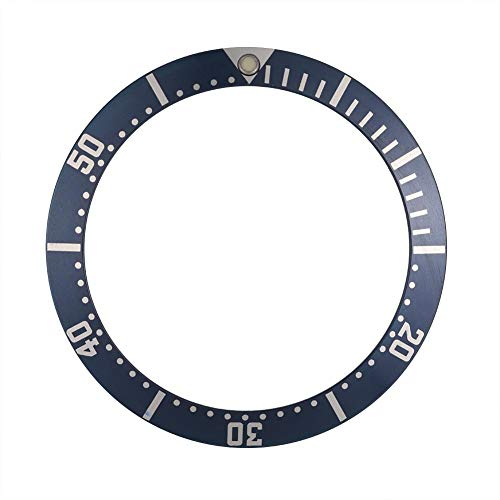 Watch Band Replacement, 36mm Ceramic Wristwatch Bezel Insert Loop Replace Parts(Blue)
