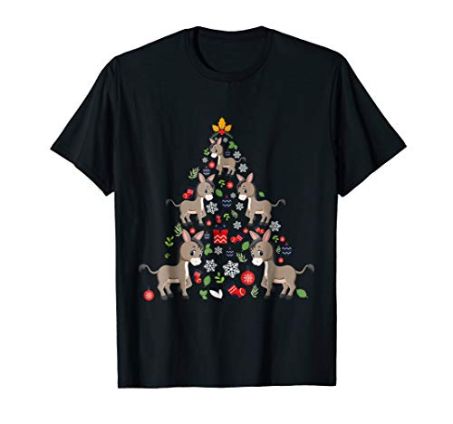 Funny Donkey Ornament Decor Christmas Tree Tshirt Xmas Gifts