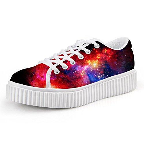 Abbracci Idea Galassia Scarpe Da Donna Fashion Sneakers Stringate Galaxy 11