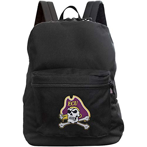 Denco NCAA East Carolina Pirates Made in The USA Premium Backpack, 16-inches, Black