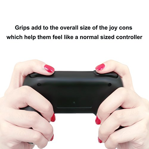 FASTSNAIL Grips for Nintendo Switch Joy-Con, Wear-resistant Handle Kit for Switch Joy Cons Controller, 2 Pack (Black) by FASTSNAIL (Image #4)