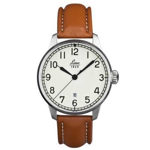 Laco 861651 - Reloj de caballero automático, correa de piel color marrón