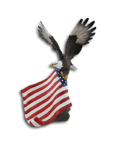 Things2Die4 American Flag and Bald Eagle Single Bottle Wine Holder Display