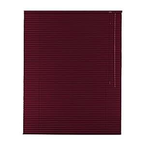 De alta calidad de láminas de aluminio estor enrollable 75 x 220 cm/75 x 220 cm en colour rojo - lado operativo a la derecha // Dimensiones de resistencia/de la ventana de la persiana/de ventana de estor/aletas de aluminio/alu-de láminas