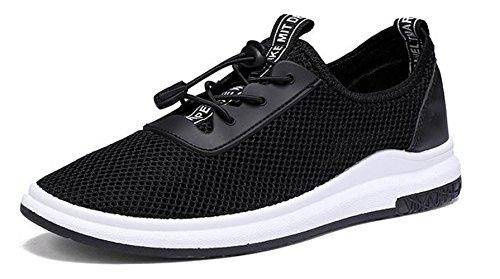 Un Peu De Chaussures Toile D'hommes Frais Baskets Freizetschuhe Mode Casual Black-b