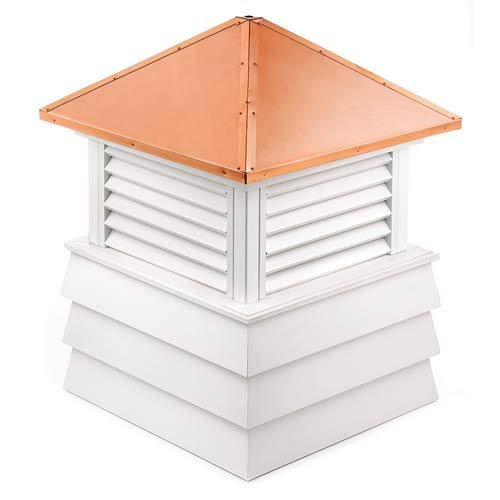 Good Directions Dover Vinyl Cupola with Copper Roof, 26'' x 35''
