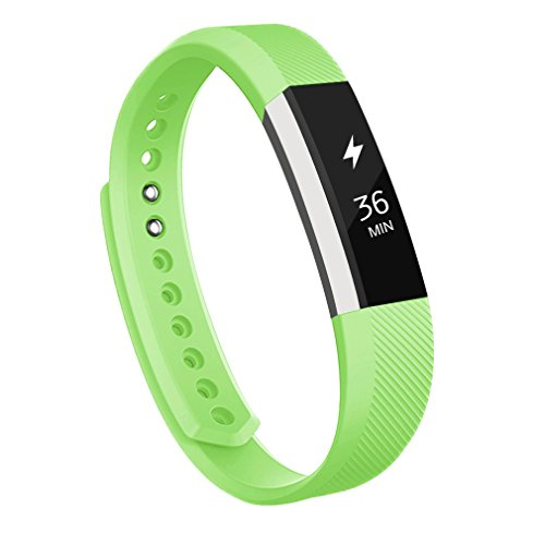 Fitbit Alta Bands,AK Replacement Bands for Fitbit Alta with Metal Clasp (Green, Small)