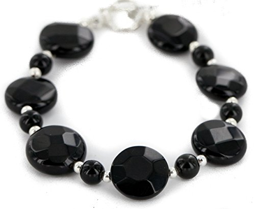 $80 Retail Tag Authentic Navajo Nickel Natural Black Onyx Native American Bracelet -