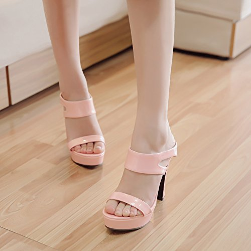 Women Mules Coolcept Pink Heels High ZqdwxPAF