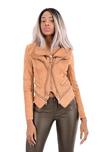 LustyChic - Chaqueta - para Mujer marrón claro