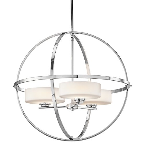 Kichler 42505CH Olsay Chandelier 3-Light Halogen, Chrome