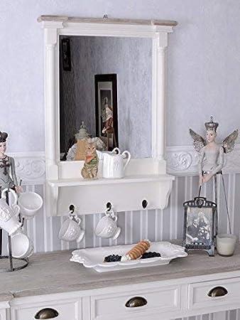 PALAZZO INT Wandspiegel Shabby Chic Garderobe Hakenleiste Wandregal ...