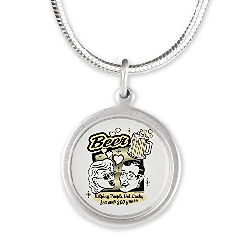 silver-round-necklace-beer-helping-people-get-lucky