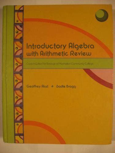 Introductory Algebra with Arithmetic Review