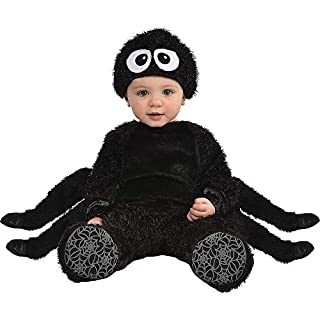 Party City Spider Crawler Halloween Costume for Babies, 12-24 Months, Includes Jumpsuit, Hat, Booties