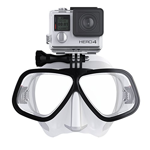 OCTOMASK - Compatible with Gopro - Dive Mask for Scuba and Snorkeling - Clear