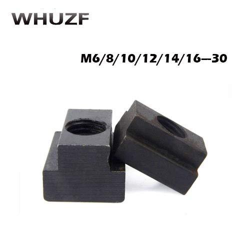 (Nuts t Slot t nut 10pcs M6-M30 T-Slot Nut Clamping Table Slot Milling T Sliding Nut Block Slot - (Size: M6))