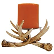 Antler Pillar Candle Holder 6-inch