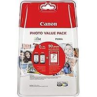 Canon PG-545XL+CL-546XL Valuepack de tinta original BK XL+Tricolor XL (GP-501 50 sheets) para Impresora de Inyeccion de tinta Pixma TS3150,3151-MG2450,2550,2550S,2555S,2950,3050,3051,3052,3053-IP2850