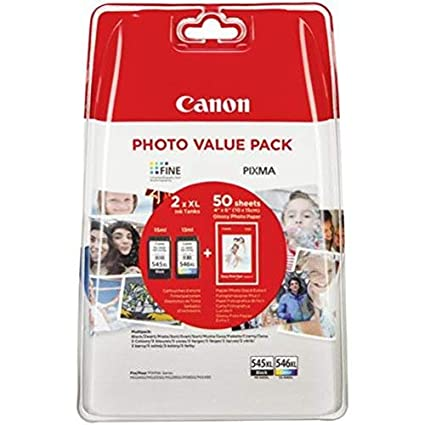 Canon PG-545XL+CL-546XL Valuepack de tinta original BK XL+Tricolor ...